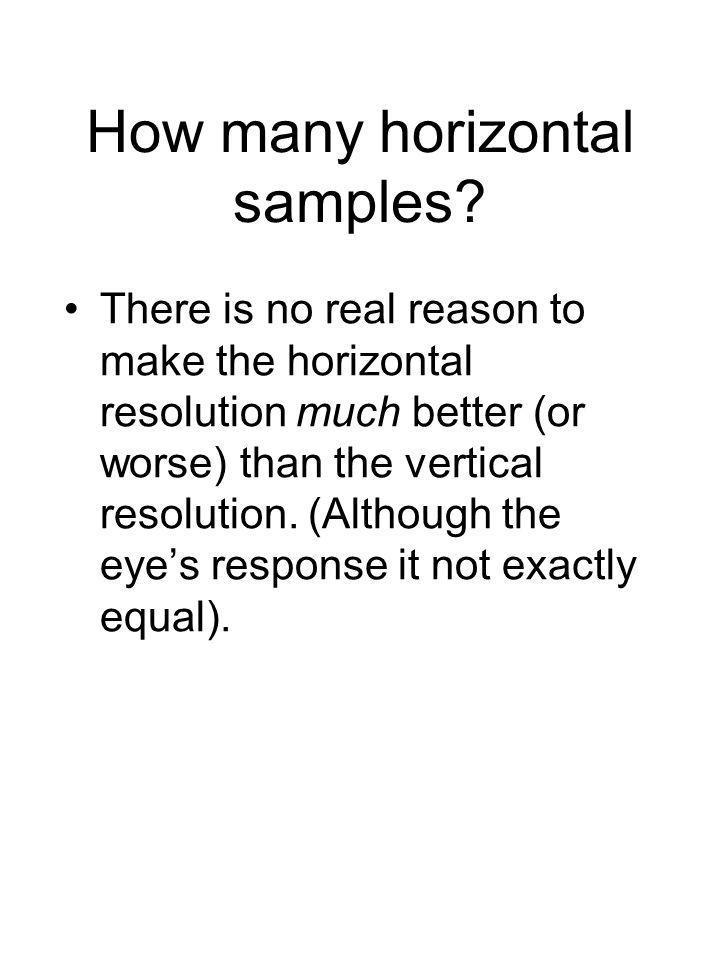 How many horizontal samples.