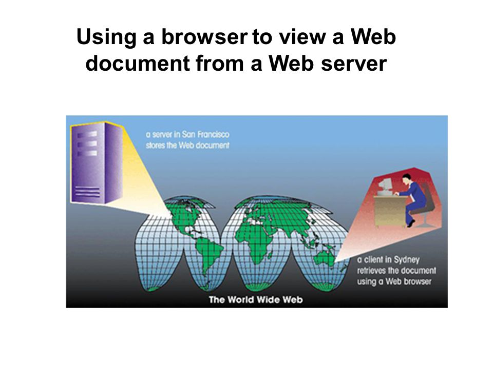 Using a browser to view a Web document from a Web server