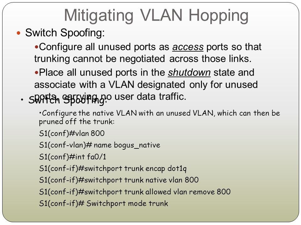VLAN Access Control Lists Router access control list (RACL): Applied to Layer 3 interfaces such as SVI or L3 routed ports.