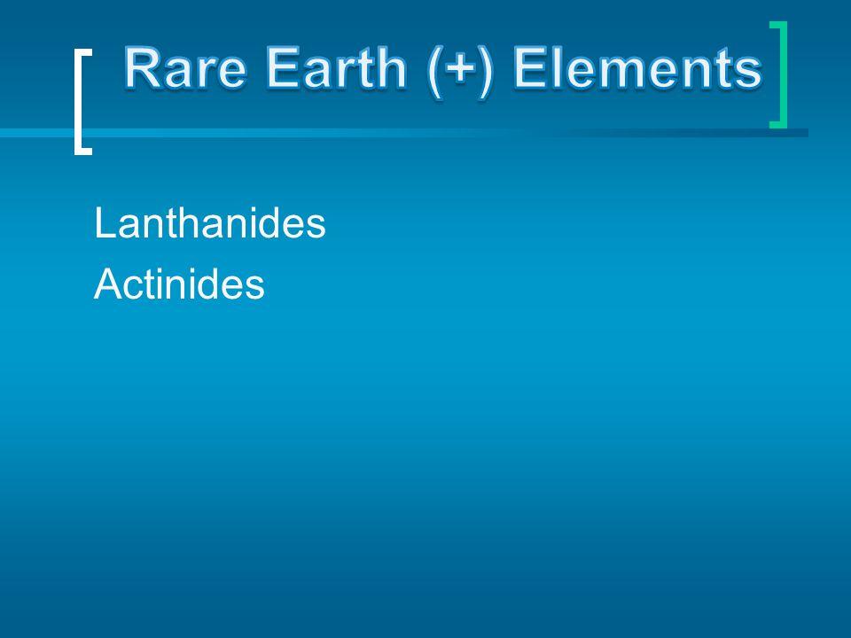 Lanthanides Actinides