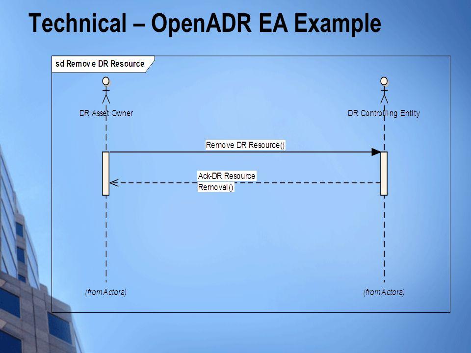 Technical – OpenADR EA Example