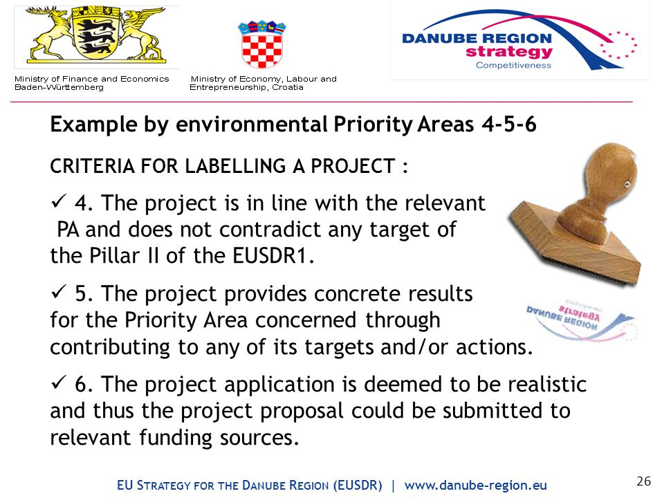 Example by environmental Priority Areas 4-5-6 CRITERIA FOR LABELLING A PROJECT : 4.