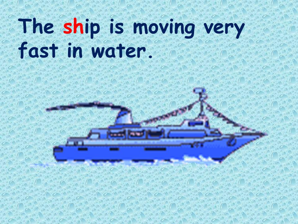 The ship is moving very fast in water.