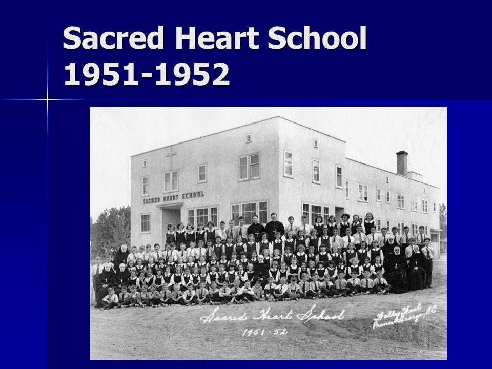 Sacred Heart School 1951-1952