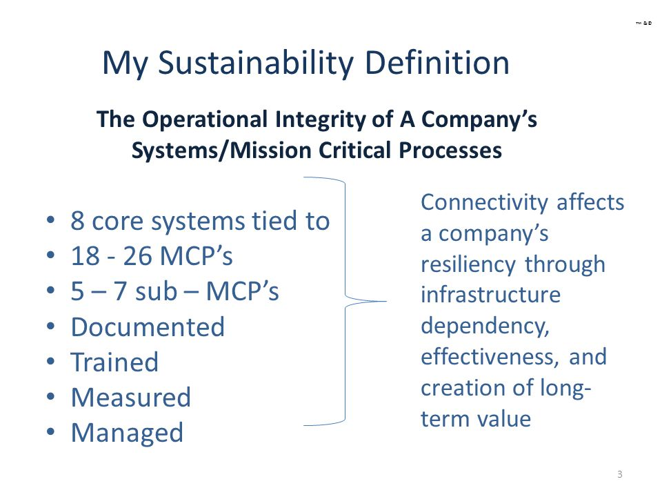 Agenda Current Sustainability Paradigm Move To True Sustainability How To Build Sustainability Financial Statements and Sustainability Framework To Fix Broken Companies Case Studies 4 ™ &©