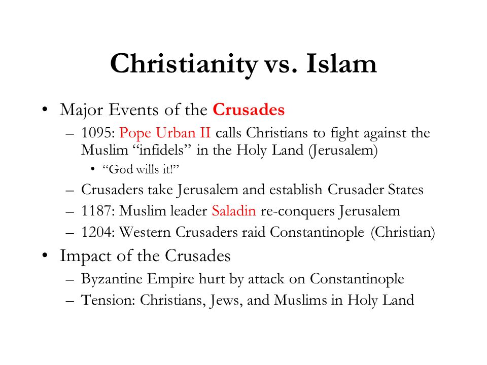 Christianity vs.