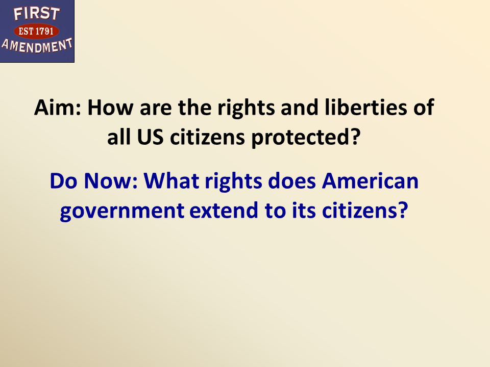 Rights of the Accused Interpreting defendants' rights First Amendment guarantees freedoms of religion, speech, press, assembly Most of remaining rights in the Bill of Rights concern rights of people accused of crimes Rights were originally intended to protect accused in political arrests and trials Today -- protections in Fourth, Fifth, Sixth, Eighth Amendments are primarily applied in criminal justice cases Language of the B of R vague, defendants' rights are not well defined Incorporation -- these rights at state level as well
