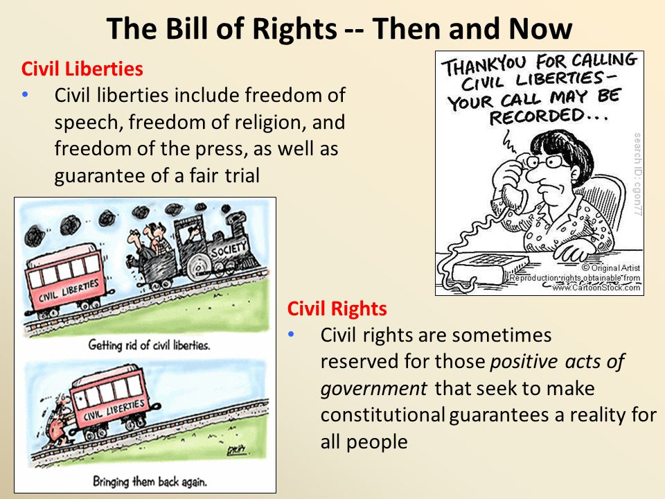 The Bill of Rights and the states The scope of the Bill of Rights In 1791, every state constitution included a bill of rights First ten amendments were intended to restrict the new federal government, not the existing state governments Note First Amendment begins with the words, Congress shall make no law…