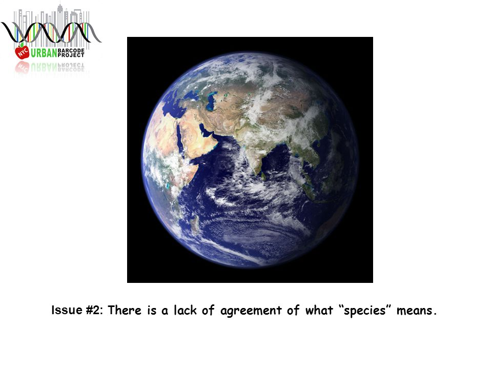 Issue #2: T here is a lack of agreement of what species means.