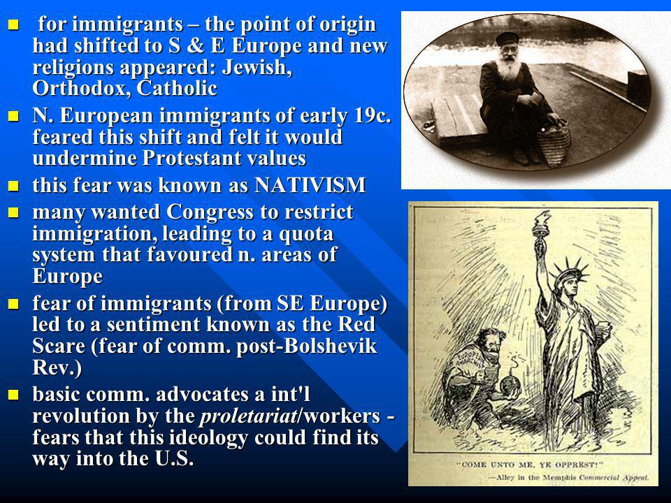 A Society in Conflict Anti-immigrant Anti-immigrant –National Origins Act –Discrimination Sacco-Vanzetti Trial –Italian immigrants –Unfair trial