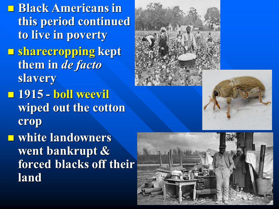 an agri. depression in early 1920's contributed to this urban migration an agri. depression in early 1920's contributed to this urban migration U.S. f