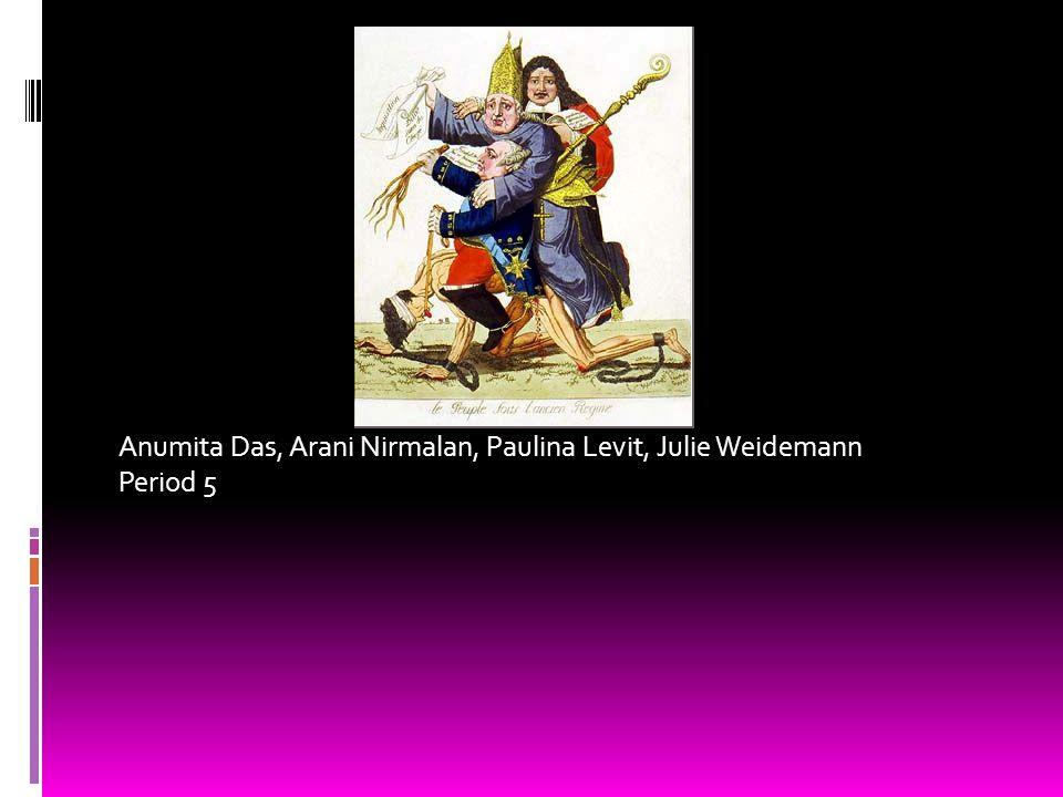 Anumita Das, Arani Nirmalan, Paulina Levit, Julie Weidemann Period 5