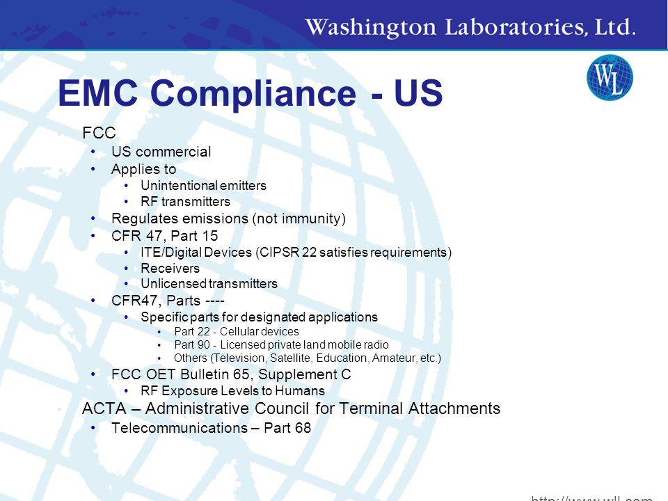 EMC Compliance - Canada Industry Canada Formally Dept.