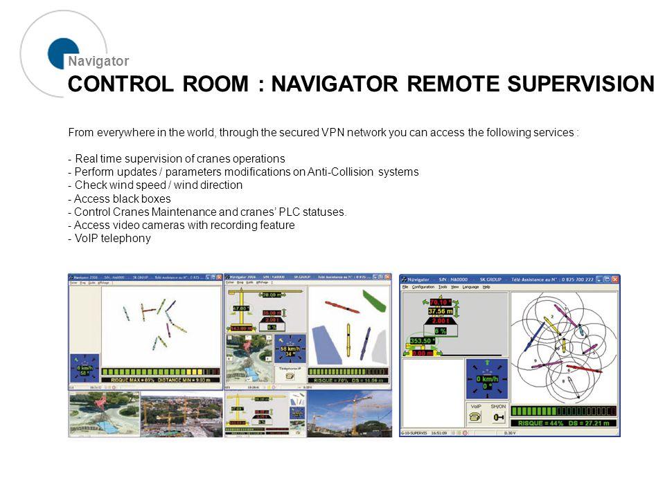 CONTROL ROOM : MAP-BASED NAVIGATION Navigator