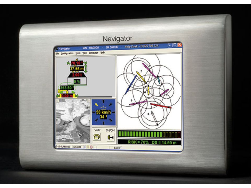 We are the uncontested technology leader in 3D dynamics anti-collision software for any type of mobile and the inventor of a new concept of safety, security and productivity integrated in a same software-based technological platform named Navigator: the Global Safety Mobiles Management.