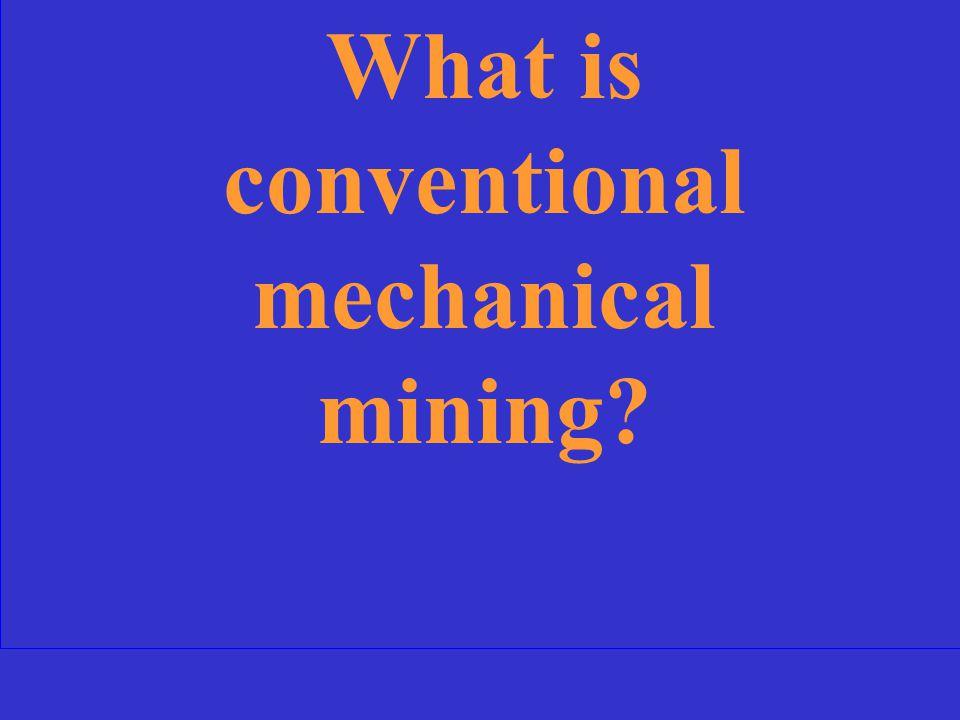 An alternative method for mining potash