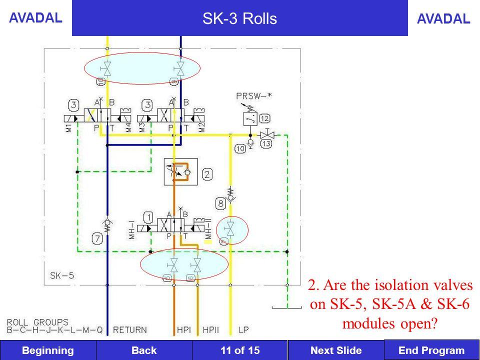 BeginningNext SlideBack End Program AVADAL 11 of 15 SK-3 Rolls 2.