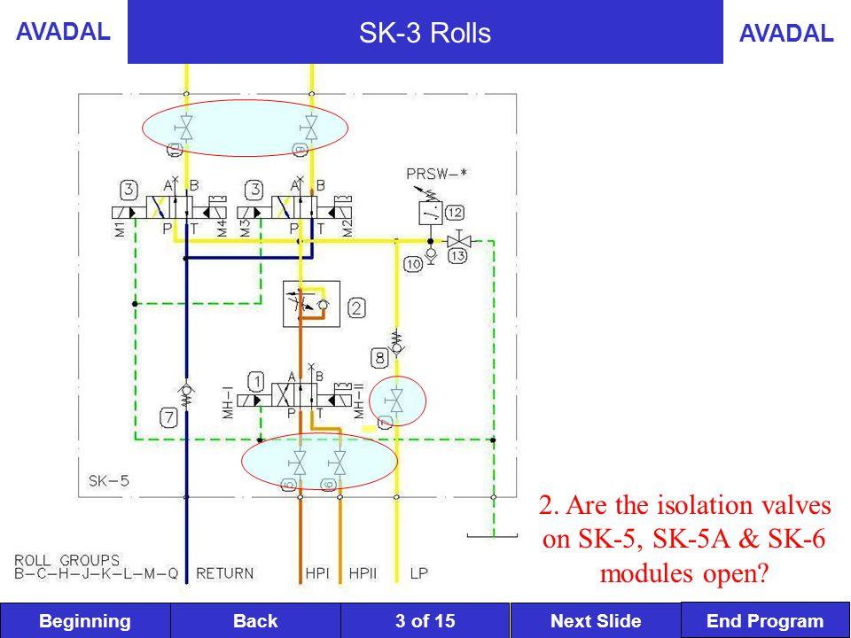 BeginningNext SlideBack End Program AVADAL 3 of 15 SK-3 Rolls 2.
