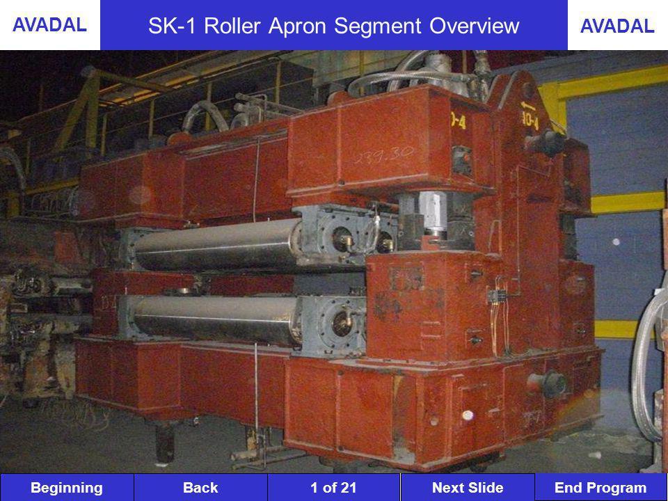 BeginningNext SlideBack End Program AVADAL 1 of 21 SK-1 Roller Apron Segment Overview