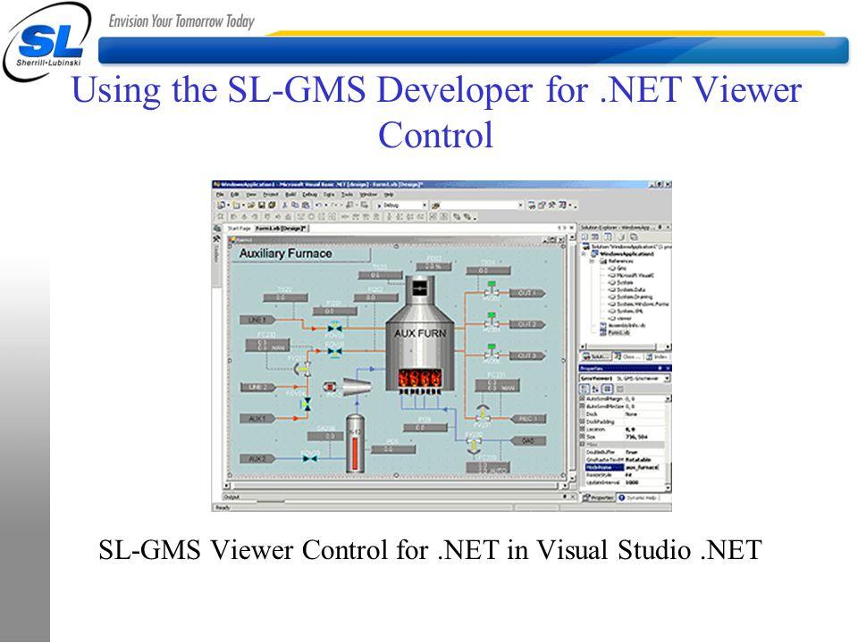 Using the SL-GMS Developer for.NET Viewer Control SL-GMS Viewer Control for.NET in Visual Studio.NET