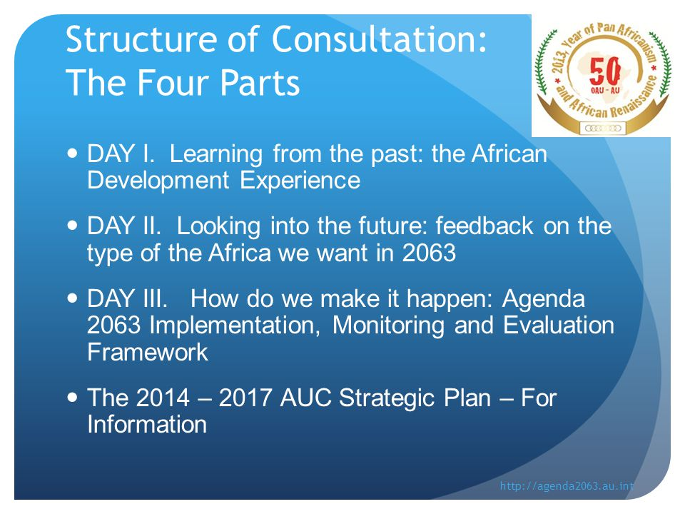 Structure of Consultation: The Four Parts DAY I.