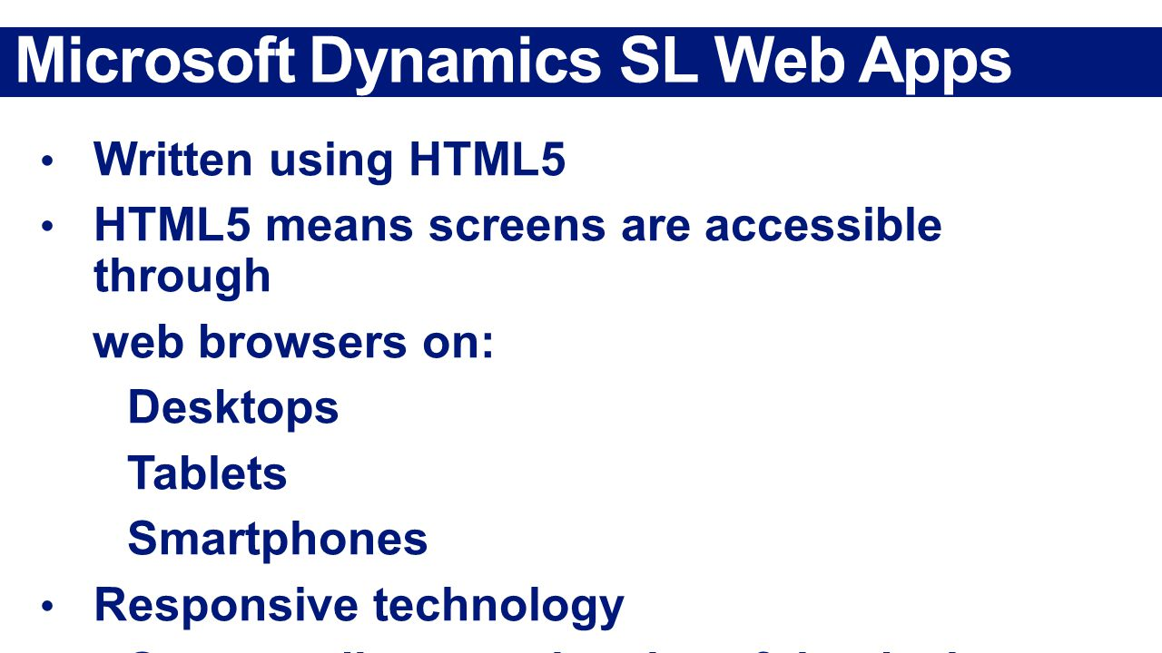 Microsoft Dynamics SL Web Apps