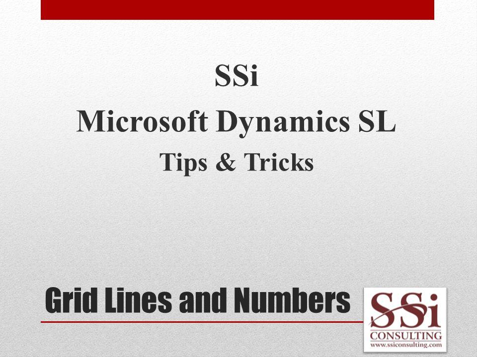 Customization Groups SSi Microsoft Dynamics SL Tips & Tricks