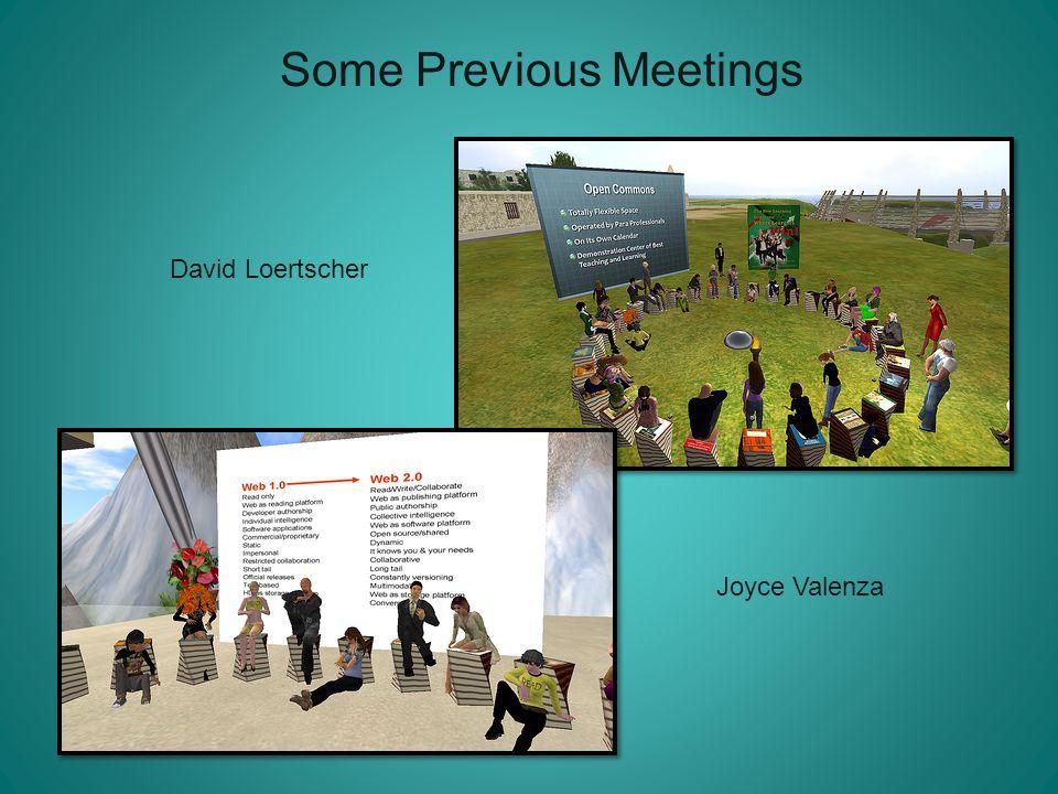 Some Previous Meetings David Loertscher Joyce Valenza