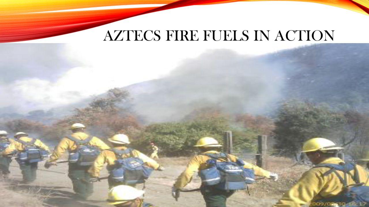 AZTECS FIRE FUELS IN ACTION