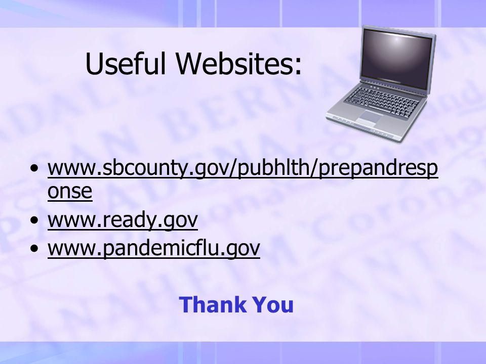 Contact Information Preparedness & Response Program Department of Public Health County of San Bernardino 909-387-6280 800-782-4264