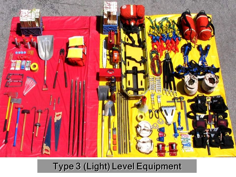 Type 3 (Light) Level Equipment