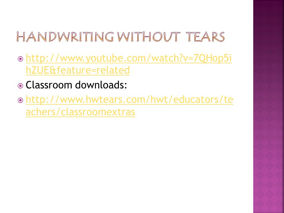  http://www.youtube.com/watch v=7QHop5i hZUE&feature=related http://www.youtube.com/watch v=7QHop5i hZUE&feature=related  Classroom downloads:  http://www.hwtears.com/hwt/educators/te achers/classroomextras http://www.hwtears.com/hwt/educators/te achers/classroomextras