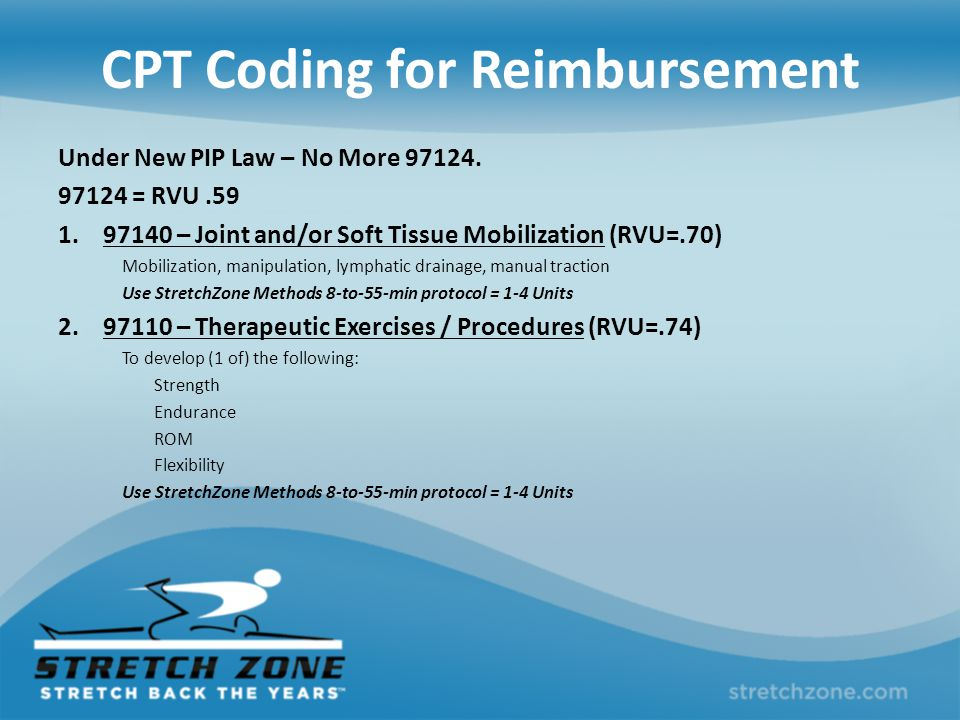 CPT Coding for Reimbursement Under New PIP Law – No More 97124.
