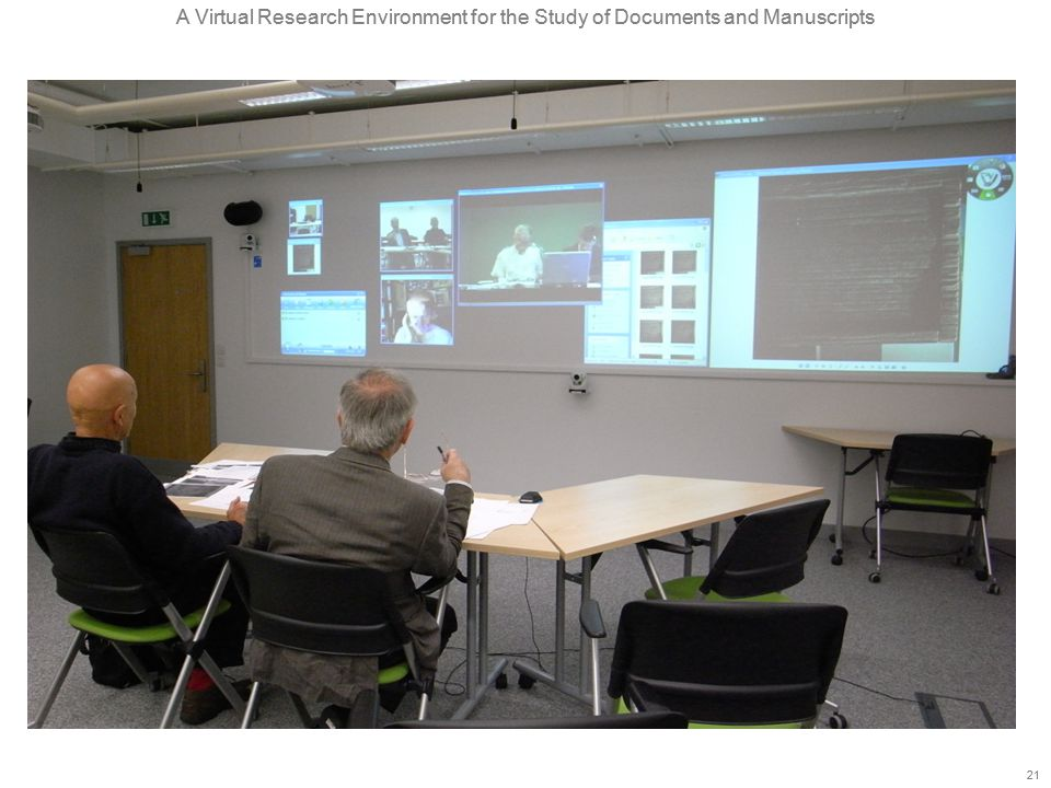 A Virtual Research Environment for the Study of Documents and Manuscripts 21 A Virtual Research Environment for the Study of Documents and Manuscripts 21