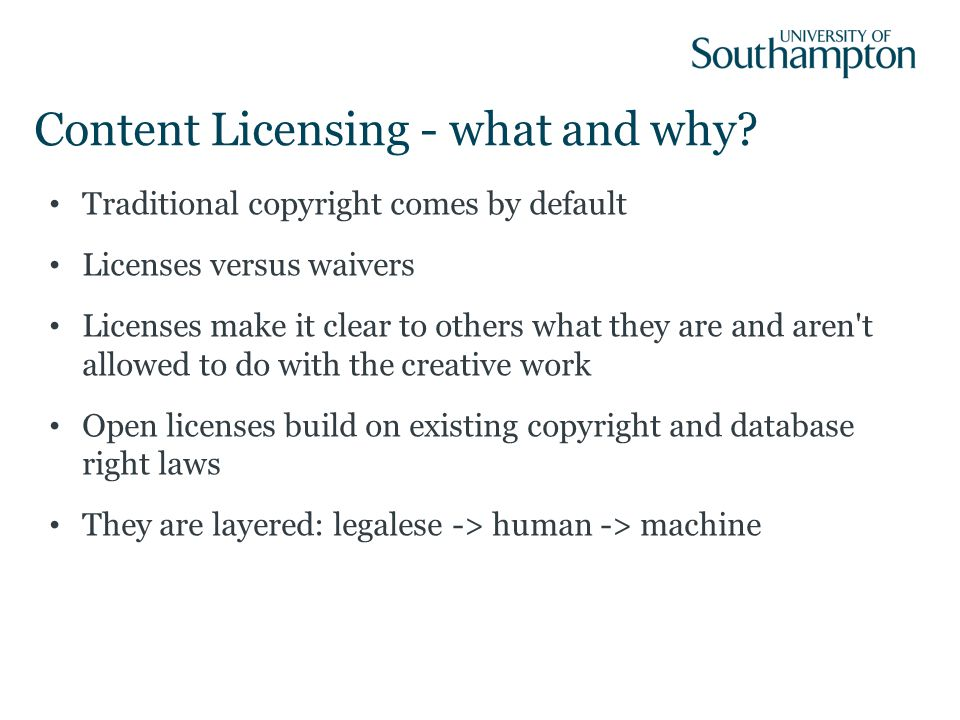 Content Licensing - what and why.
