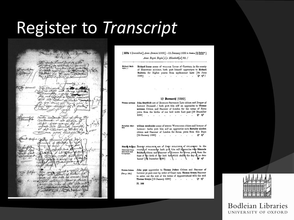 Register to Transcript