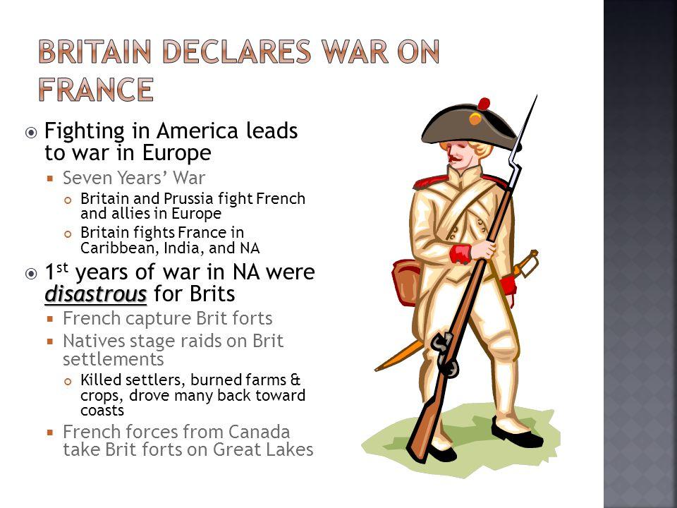  War efforts improve when…  William Pitt becomes Sec.