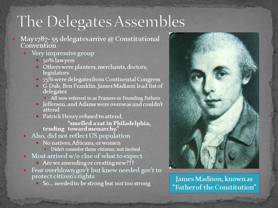 Sept. 1786- Series of events began to worry most Delegates of 5 states meet in Annapolis, MD.