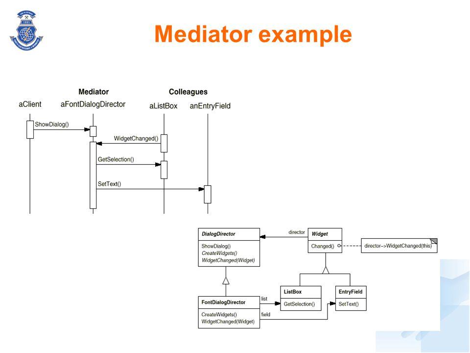 Mediator example