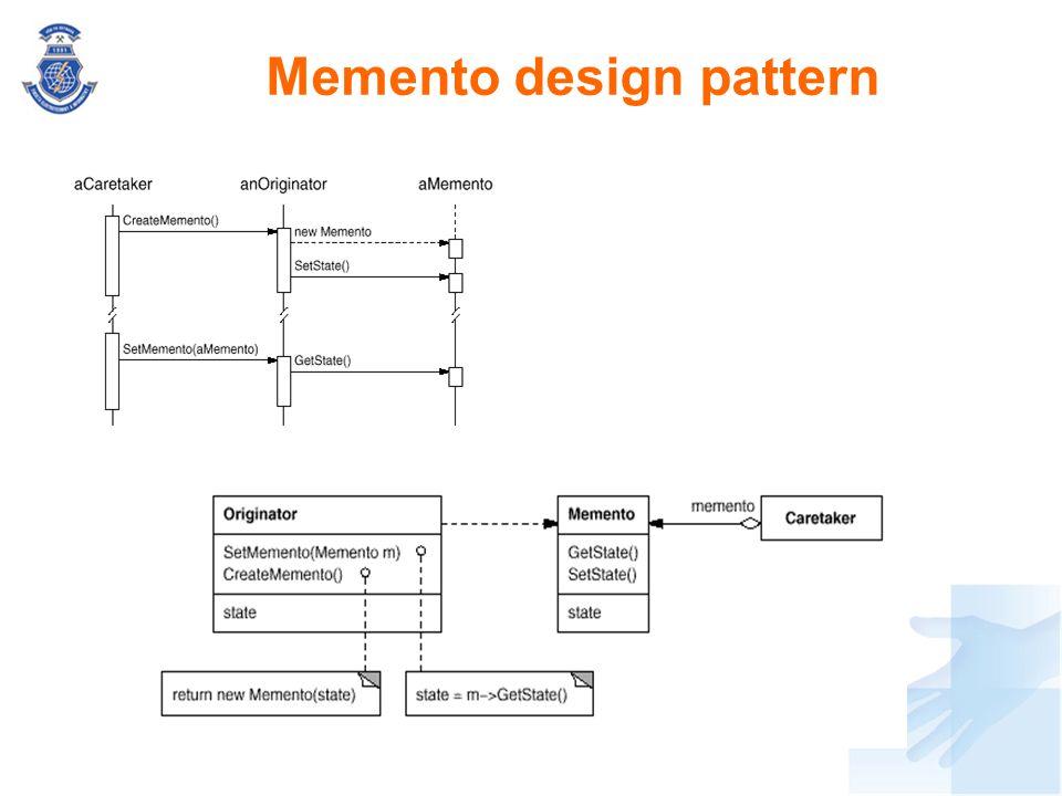 Memento design pattern