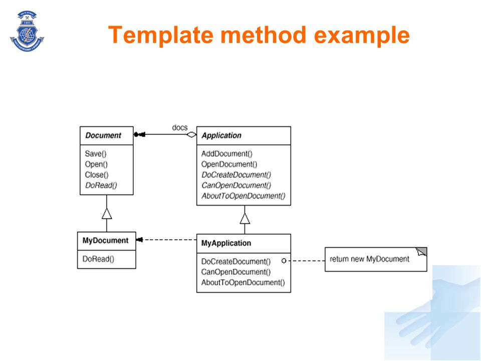 Template method example