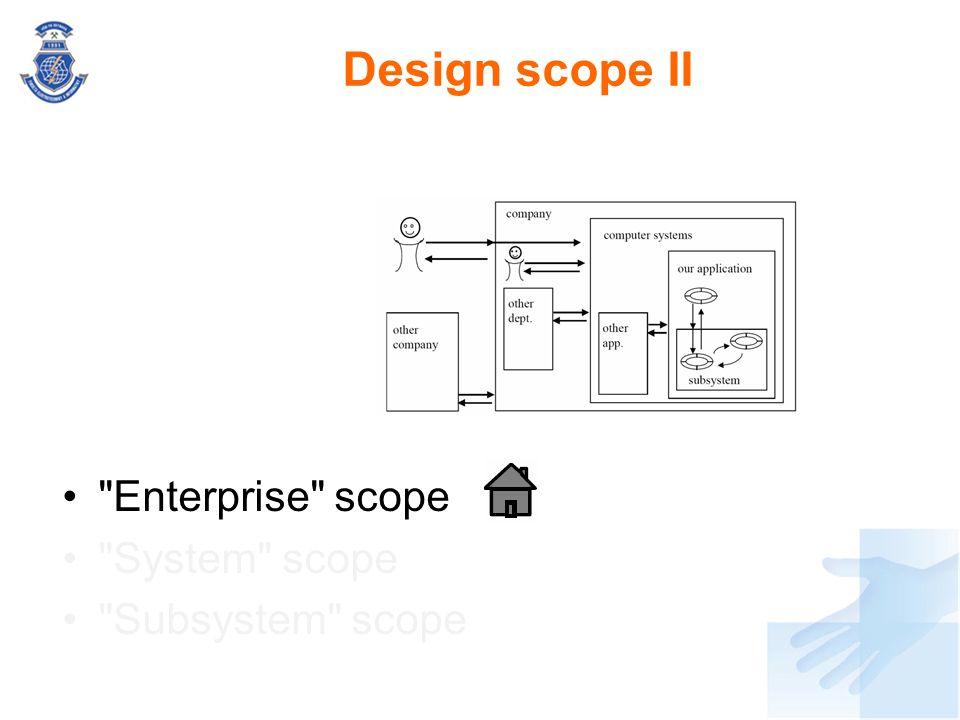 Design scope II