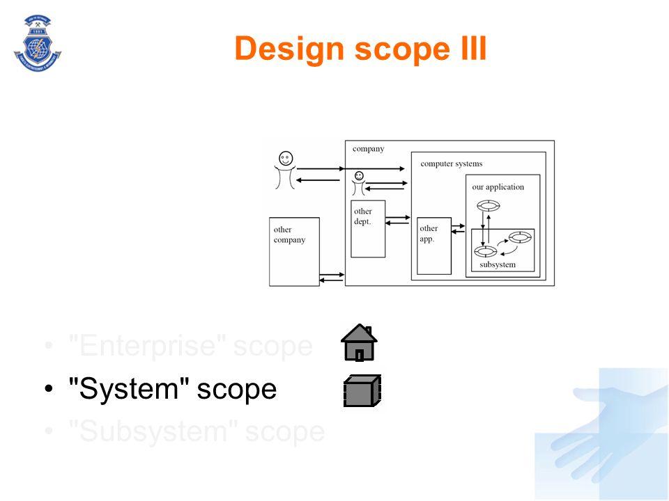 Design scope III