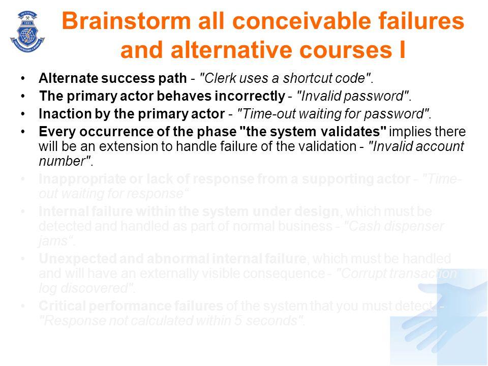 Alternate success path -
