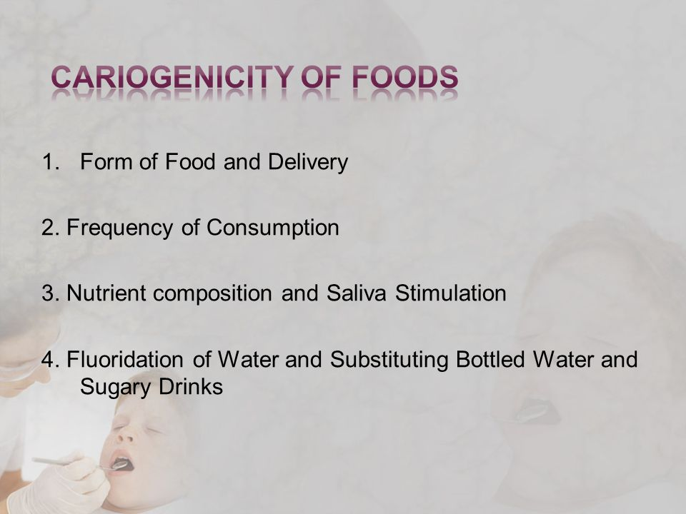 1.Form of Food and Delivery 2. Frequency of Consumption 3.