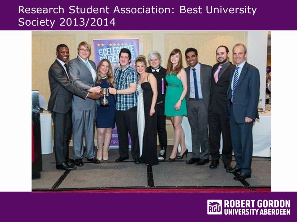 Research Student Association: Best University Society 2013/2014
