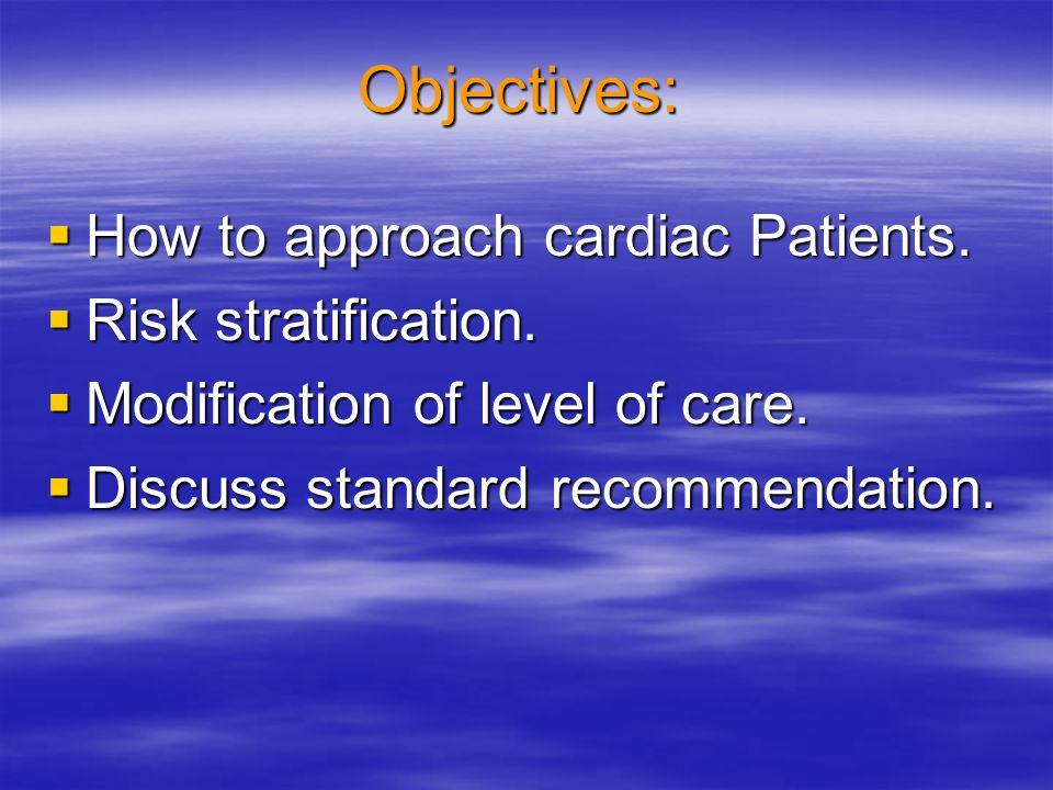 Cardiac Functional Classification: Canadian Cardiovascular Society I.No angina with ordinary physical activity.
