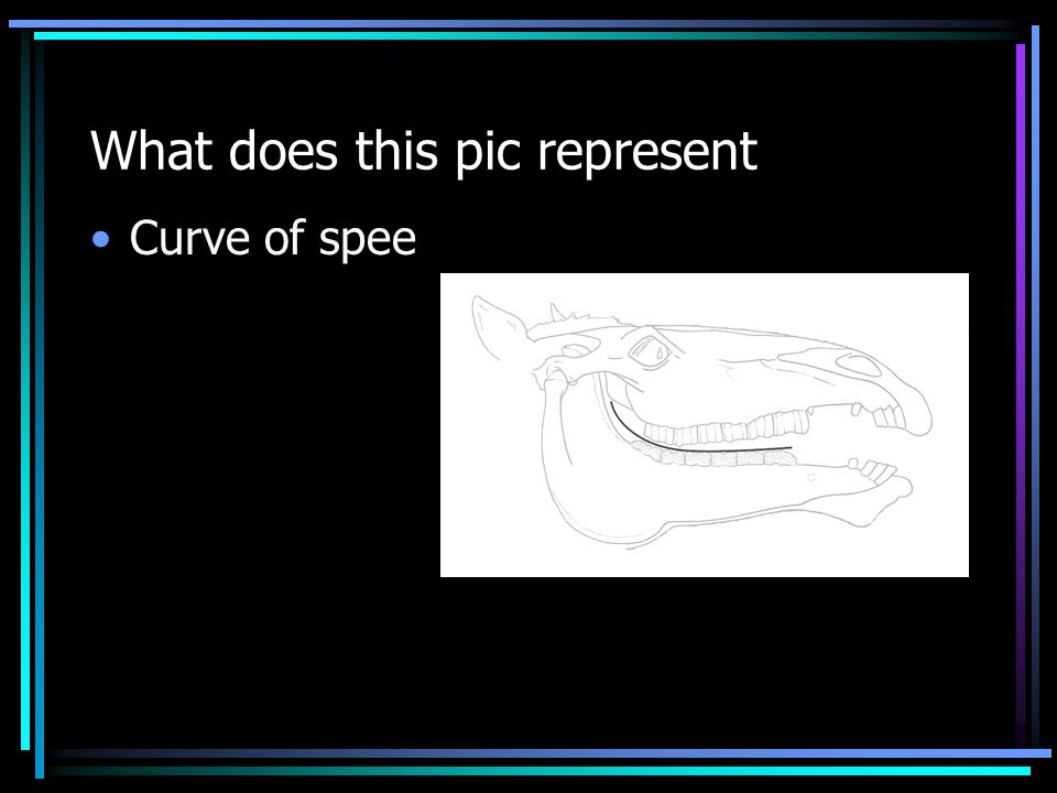 What does this pic represent Curve of spee