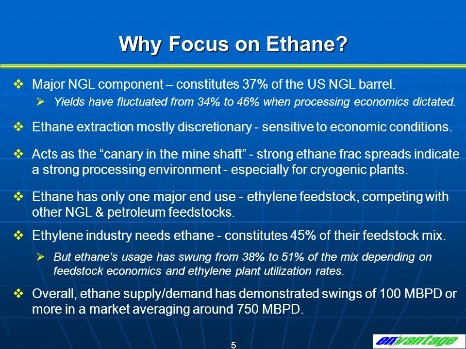 5 Why Focus on Ethane.  Major NGL component – constitutes 37% of the US NGL barrel.