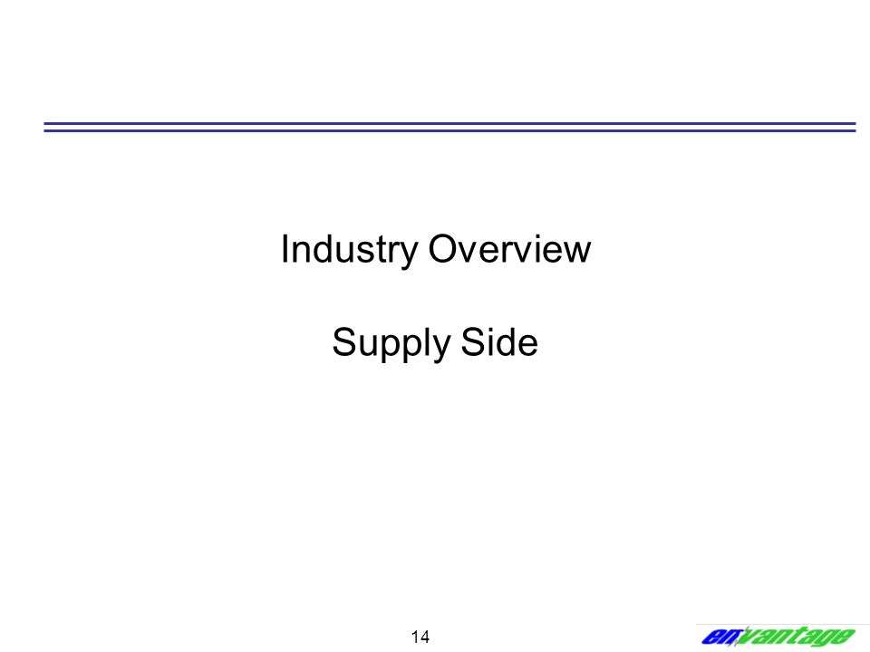 14 Industry Overview Supply Side